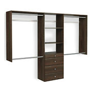 Easy Track Deluxe Tower Closet Storage Organizer With Shelves And Drawers, Truffle