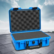 Blue Waterproof Camera Case With Foam Protective Equipment Hard Carry Toolboxes