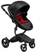 Mima Xari Black Chassis Reversible Seat Stroller W Starter Pack Black Ruby Red