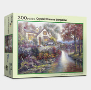 Jigsaw Puzzle 300 Pieces Art Painting Landscapes Of Crystal Streams Bungalow