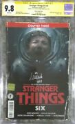 Stranger Things Six 3 Photo Variant__cgc 9.8 Ss__signed By Millie Bobby Brown