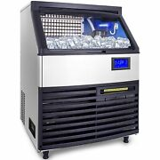 Ice Cube Maker Machine 200kg/440lbs Commercial Lcd Control Panel 850w Heat In...