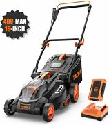 Tacklife Cordless Lawn Mower 16-inch 40v Brushless Lawn Mower 4.0ah Battery 6