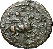 Commodus On Horse Authentic Ancient Philippopolis Thrace Roman Coin I84020