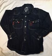 Kids Sons Of Anarchy Aprx 2012 Licd Sz 7 Faux Leather Shirt