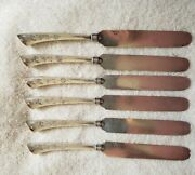 Angelo By Gorham Sterling Silver Bladed Set 6 Knives 1870 Rare 8 3/8