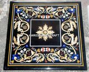 36 Marble Square Dining Table Top Marquetry Inlay Home Decors Furniture H4325