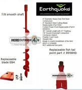Ea4f Earthquake 4 Earth Auger Drill Bit Sign Cable Pipe Install Commercial Work