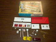 Gas Station With Box 2608-100 Plasticville U.s.a. Ho Scale Vintage Lot