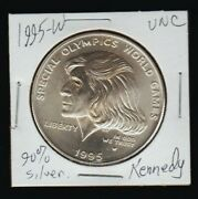 1995 W Eunice Kennedy Silver Uncirculated Dollar Hope For Best Special Olympics
