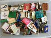 Matchbook Collection Over 50 Years Old From All Over The World