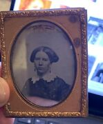 Collection Of 4 Daguerreotypes Men And Women Without Cases American Mid-1800s