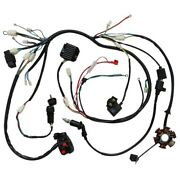 Gy6 150cc 125cc Atv Go Kart Wire Wiring Harness Assembly Cdi Switch Electric New