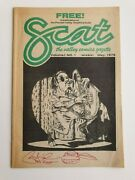 Scat 1 Volume 1 Rare Htf Before Tmnt Signed Peter Laird