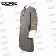 Civil War Confederate Lt's Grey With Off White Double Breast Frock Coat All Size