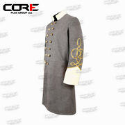 Civil War Confederate Captain's Grey With Off White Double Breast Frock Coat