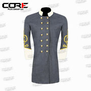 Civil War Confederate Major's Grey With Off White Double Breast Frock Coat