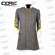 Civil War Confederate General's Grey With Off White Double Breast Frock Coat