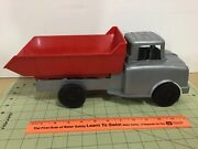 Vintage 1950's Ideal Toy Co. Plastic Dump Truck, Barn Find, Free Shipping