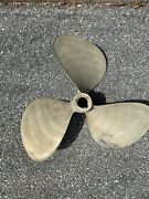 Pair Nibral 27x27, 3 Blade Propellers Used Right Hand And Left Hand 2 1/4 Bore