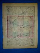 Antique 1873 Atlas Map Calhoun And Jackson County, Michigan Old Authentic