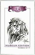 Witchblade Museum Edition Original Sketch Signed Michael Turner Jay Co