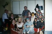 35mm Slide 1950s Red Border Kodachrome Adult Halloween Party