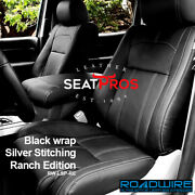 Roadwire Leather Seat 07-13 Toyota Tundra Crewmax Double Cab Black Ranch Edition