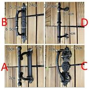 Large Cast Iron Gate Barn Shed Pull Door Handle Antique Cupboard Wall Decor Art