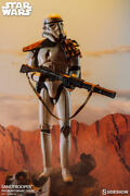 Star Wars Sideshow Sandtrooper Pf Ex 14 Scale Statue With Womp Rat 099/750