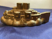 Vintage Antique Pewter Ice Cream, Butter, Chocolate Mould - Battleship 513