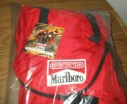 Vintage Marlboro Adventure Team Red Large Hiking Backpack Bag Mat-16