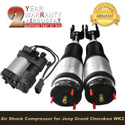 Front Air Suspension Shocks W/ Air Compressor For Jeep Grand Cherokee 2011-2014