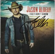 Jason Aldean They Don't Know Signed Cd Very Rare Autographed Country