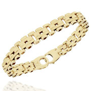 8.3mm Fence Link Chain Bracelet In 14k Yellow Gold