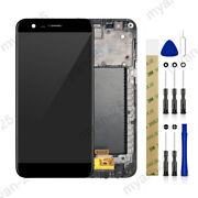 For Lg K10 2017 Lv5 X400 M250 M250n Lcd Display Touch Screen Digitizer + Frame