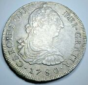 1780 Lima Shipwreck Spanish Silver 8 Reales 1700and039s Colonial Dollar Pirate Coin