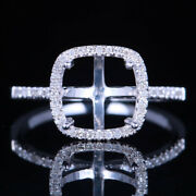 Natural Diamonds Jewelry Solid 18k White Gold Wedding Ring Cushion Cut 8x8mm
