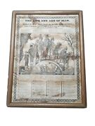 Rare Original 1800s The Life And Age Of Man Devil Christianity Death Religious