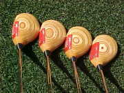 Oversize Ping Eye 2 Golf Clubs Refinished Woods Set 3 4 5 7 W New Lamkin Grips