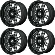 Set 4 22 Xd Xd850 Cage 22x10 Gloss Black Milled 6x5.5 Wheels -18mm Lifted Truck
