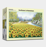 Art Painting Jigsaw Puzzle 1000 Pieces Landscapes Of Sunflower In Home Town