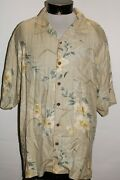 Tommy Bahama Mens Xl X-large 100silk Button-up Shirt Combine Ship Discount