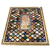 4and039x2and039 Multi Stone Mosaic Inlay Art Marble Dining Table Top Restaurant Decor B068