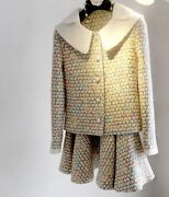 Custom Made To Order Pearl Button Jacket Two Piece Skirt Suit Plus 1x-10x Y1076
