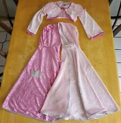 Child Girl Princess Dress Up Lot 2 Capes And A Disney Store Jacket Sz Child Small