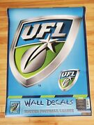 New Rare Discontinued Gofanz United Football League Ufl Giant Large Wall Decals