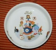 Antique Czechoslovakian Child's Or Baby Porcelain Dish With Kids And Toys Cute