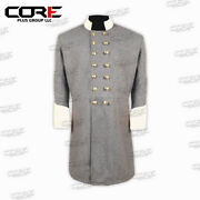 Civil War Confederate Officer's Grey With Off White Double Breast Frock Coat