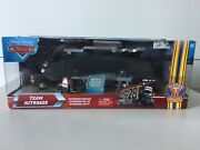 Disney Cars Team Nitroade Hauler With Pitty And 28 Nitroade 3 Piece Set Limited